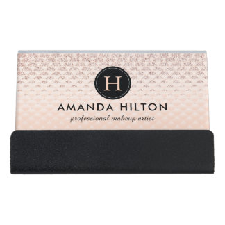High End Luxe Desk Business Card Holder