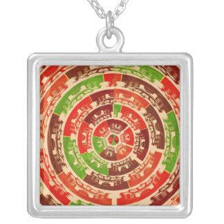 HIGH Energy Aura Cleaning Patterns Square Pendant Necklace