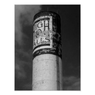 High Falls B&W Photograph Rochester NY Poster