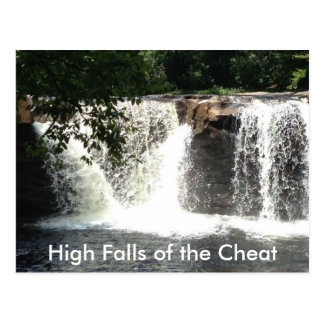 High Falls of Cheat River WV Waterfall Postcards