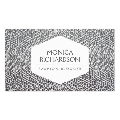 HIGH FASHION, STYLIST, BLOGGER, SNAKESKIN PRINT BUSINESS CARD TEMPLATES