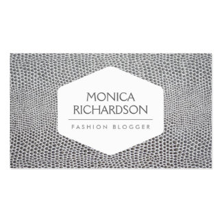 HIGH FASHION STYLIST BLOGGER SNAKESKIN PRINT BUSINESS CARD TEMPLATES