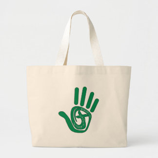 HIGH FIVE 5 TO GEOCACHING LARGE TOTE BAG