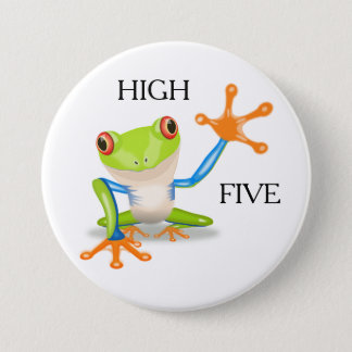 High Five Cool Frog Button