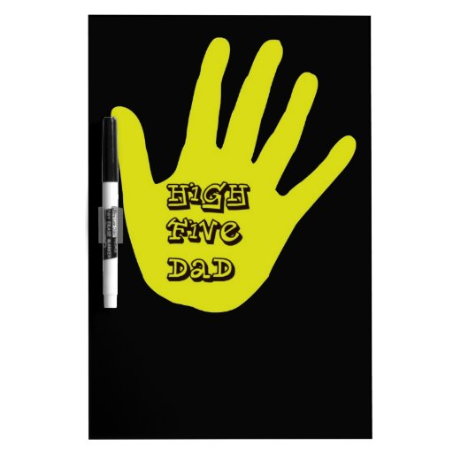 High Five Dad Hand Dry Erase Whiteboards