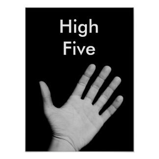 High Five Humorous Poster