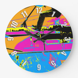 High-Flyin' Scooter Champ Large Clock