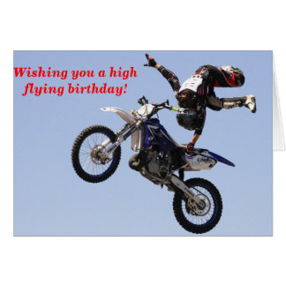 High Flying birthday Card
