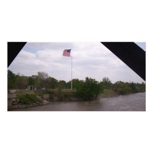 High Flying Flag Personalized Photo Card