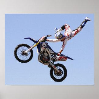 High flying motocross rider poster