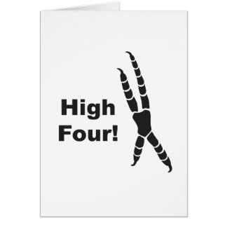 High Four Parrot Footprint (High Five) Card