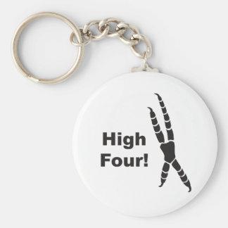High Four Parrot Footprint (High Five) Key Ring