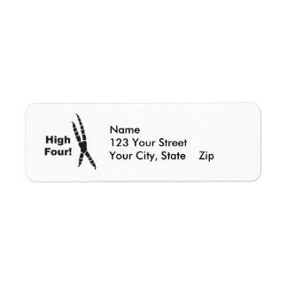 High Four Parrot Footprint (High Five) Return Address Label