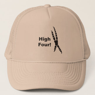 High Four Parrot Footprint (High Five) Trucker Hat