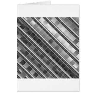 High grade silver metal graphic greeting card