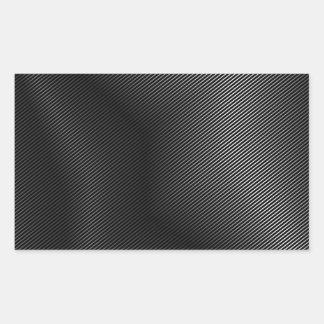 High grade silver metal rectangular sticker