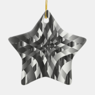 High grade stainless steel backdrop ceramic star decoration