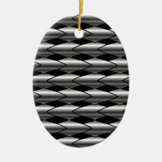 High grade stainless steel bars ceramic oval decoration