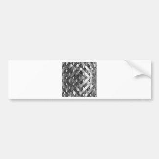 High grade stainless steel bumper sticker