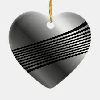 High grade stainless steel ceramic heart decoration
