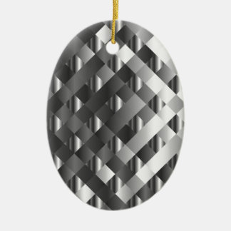 High grade stainless steel ceramic oval decoration