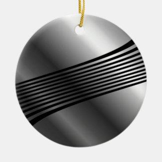 High grade stainless steel round ceramic decoration