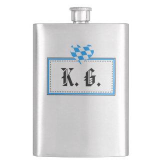 High-grade steel flat man hip flask