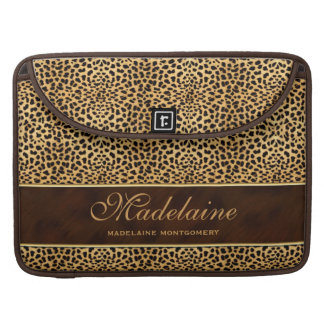 High Heel and Wild Cat Cheetah Print Sleeve For MacBook Pro