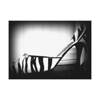 High Heel Canvas Black & White Zebra