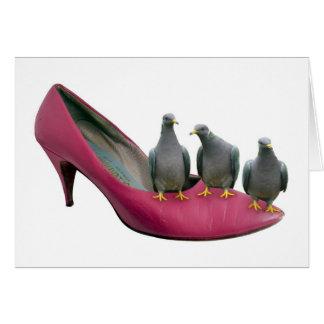 High Heel Pigeons Note Card