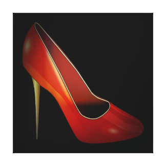 high heel, red canvas prints