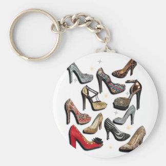 High Heel Shoe Collage Sparkle Fashion Pumps Key Chain