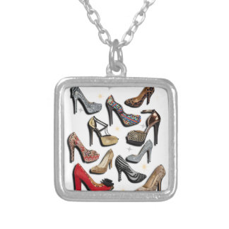 High Heel Shoe Collage Sparkle Fashion Pumps Pendants