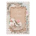 High Heel Shoe Vintage Bridal Shower Card
