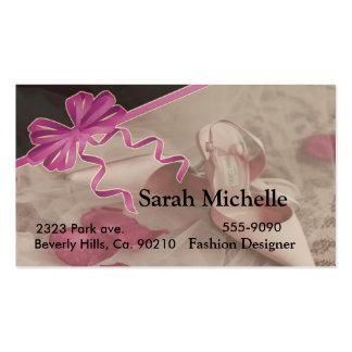 High Heel Shoes & Rose Petals Pack Of Standard Business Cards