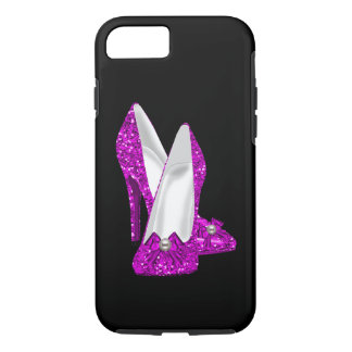 High Heel Shoes Stileto Glitter Pink iPhone 7 Case