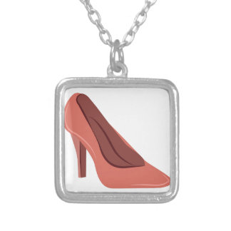 High Heel Square Pendant Necklace