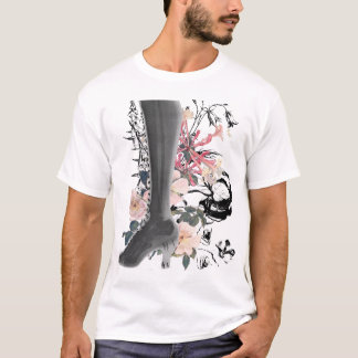 High Heel X-Ray on Tonal Stripe T-Shirt