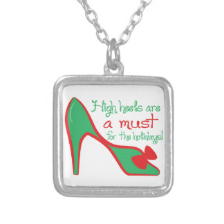 High heels are a must for the holidays! personalized necklace