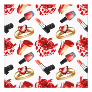 High Heels Cosmetic Diamond Ring Wrap Box Photo Print