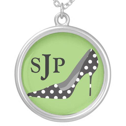 High Heels Monogram Sterling Silver Necklace