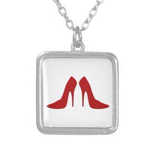 high heels necklaces
