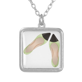 High Heels Square Pendant Necklace