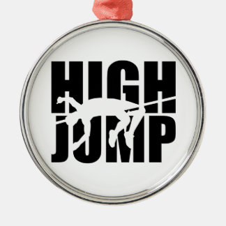 High jump metal ornament
