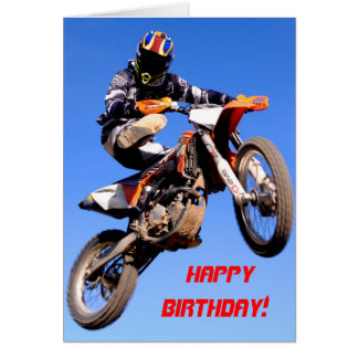 High jumping birthday card