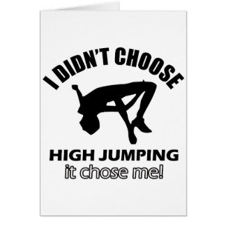 HIGH JUMPING DESIGNS CARD