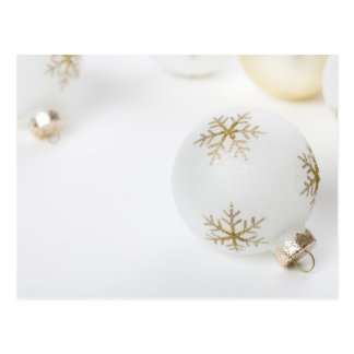 High Key Christmas Ornament Holiday Template Postcard