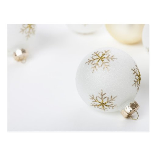 High Key Christmas Ornament Holiday Template Postcards