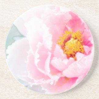 High Key Pink Peony Flower Coaster