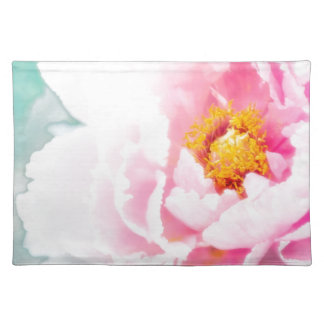 High Key Pink Peony Flower Placemat